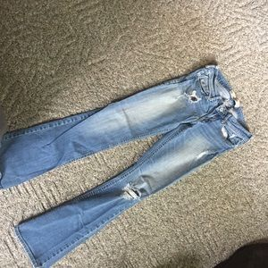 3R Bootcut Hollister ripped jeans